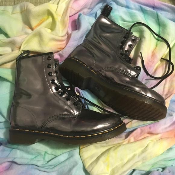 84db4e485b74 Dr. Martens Shoes - Dr. Martens boots. Iced metallic. Sz  UK